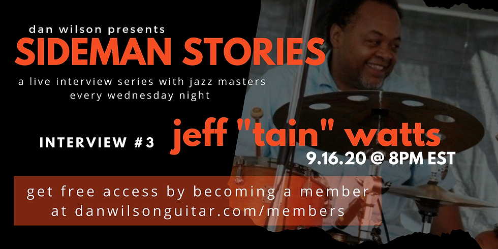 "Interview #3: Jeff ""Tain"" Watts"