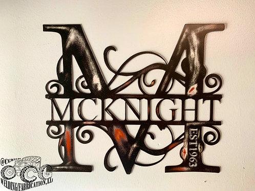 Split Letter Monograms