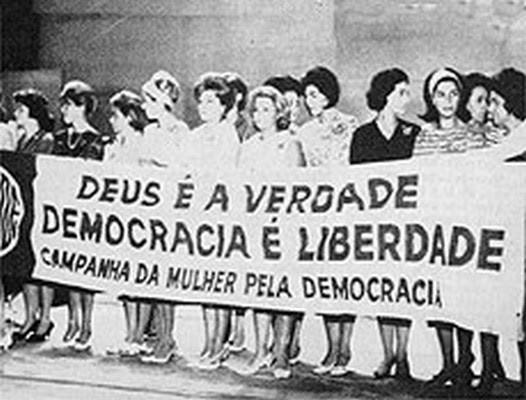 """Campanha da Mulher pela Democracia - um dos movimentos chave pela realização da """"Marcha da Família com Deus pela Liberdade"""""""