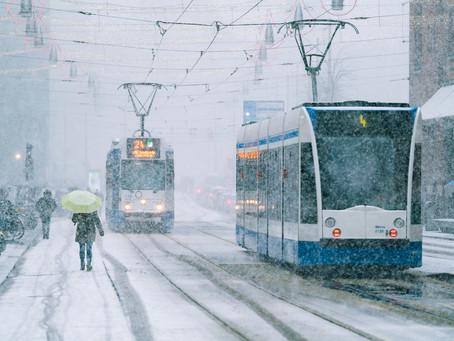 A Snowy Day In Amsterdam