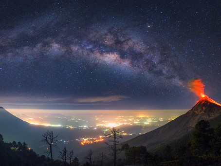 How I Planned And Shot An Erupting Volcano With The Milky Way