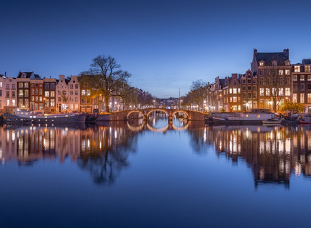 Empty Amsterdam Canals Creating Perfect Mirrors
