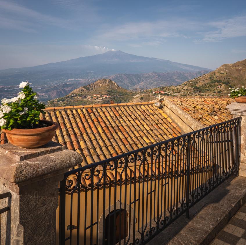 Castelmola view on Etna