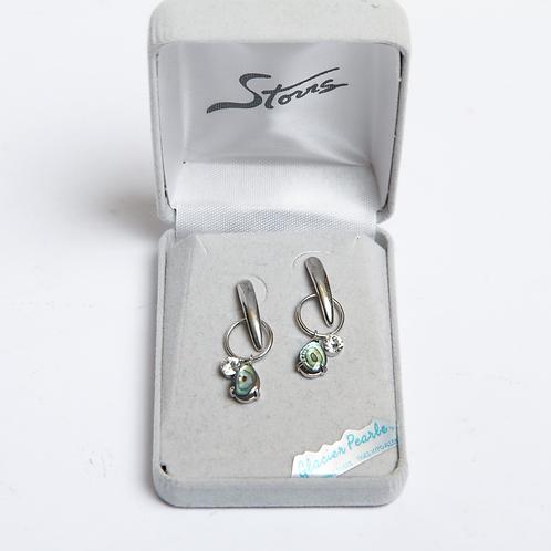 Glacier Pearle Earrings -Art Deco