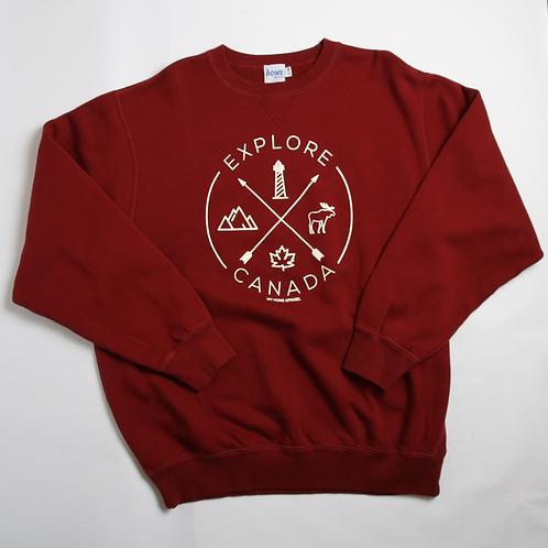 Explore Canada Sweatshirt Maroon