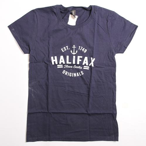 Navy Halifax Ladies Tee