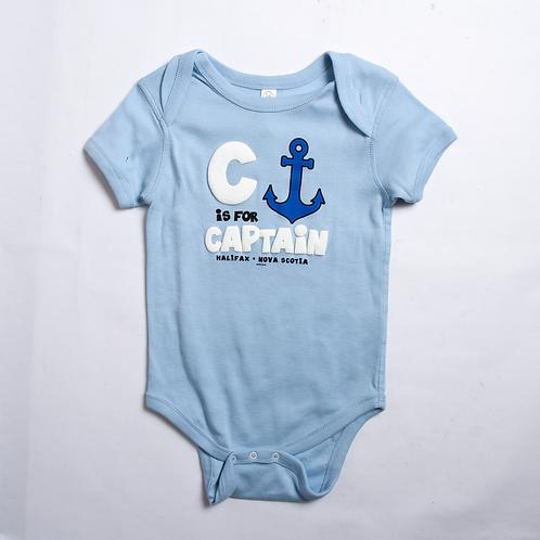 C is for Captain Blue Onesie