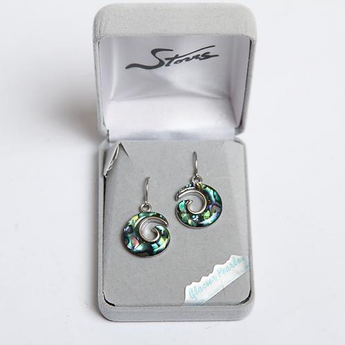 Glacier Pearle Earrings -Swirl
