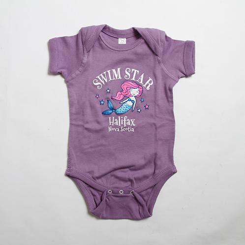 Swim Star Purple Onesie