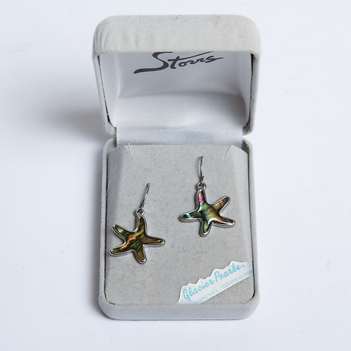Glacier Pearle Earrings -Starfish