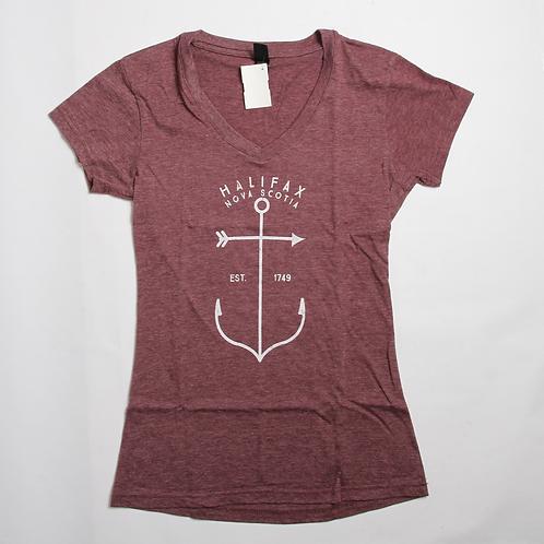 Anchor Womens V-neck Tee