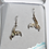 Thumbnail: Glacier Pearle Earrings -Whale Tail Sculpted