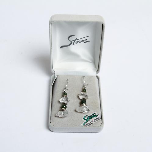Glacier Pearle Earrings -Emerald Ice