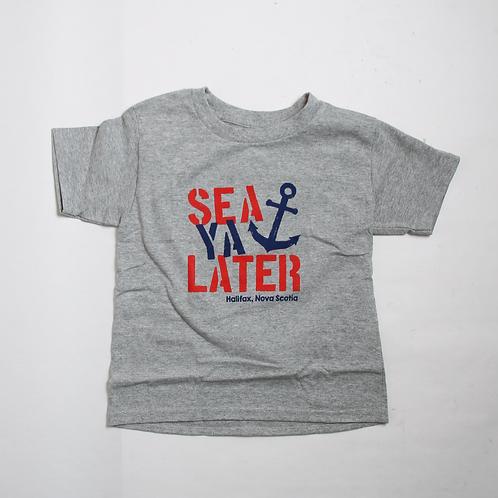 Sea Ya Later Anchor Kids Tee