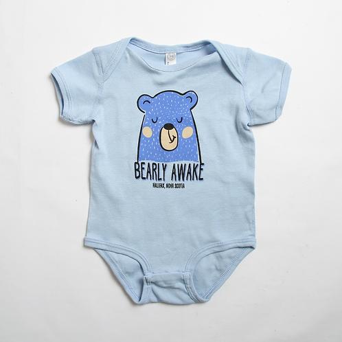 Bearly Awake Blue Onesie