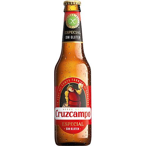 CRUZCAMPO 1/3 ESPECIAL SIN GLUTEN BOTx12 CARTON