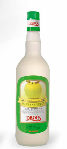LICOR MANZANA VERDE DROL'S S/ALCOHOL 1L.