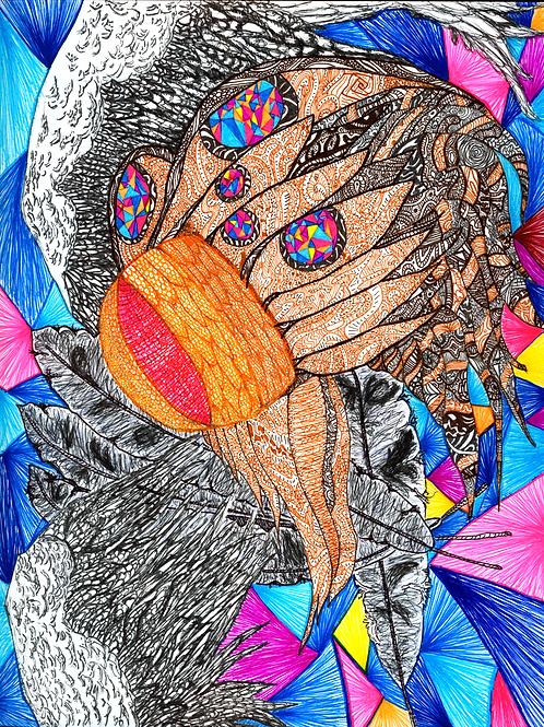 """""""Chasin' Chickens"""" Fine Art Print"""