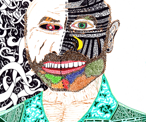 """Two Face"" Fine Art Print"