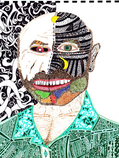 """Two Face"" Fine Art Print"