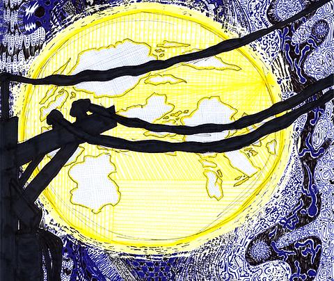 """""""Full Bellied Moon"""" Fine Art Print"""
