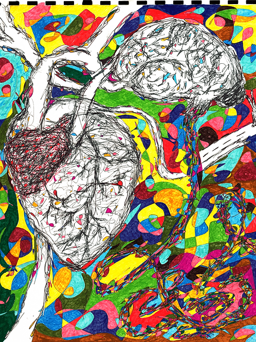 """""""The head and the Heart"""" Fine Art Print"""