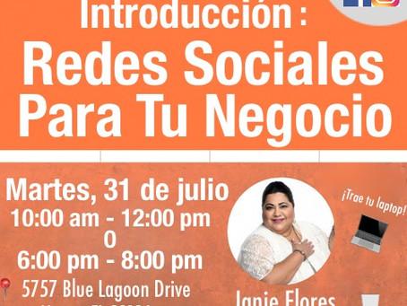 Taller Práctico: Introducción a Redes Sociales Para Tu Negocio