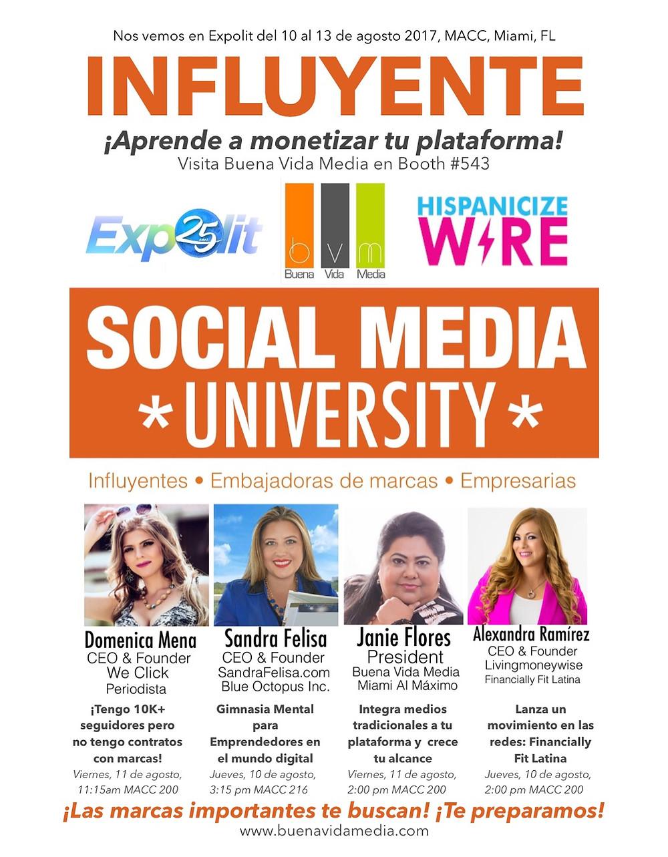 Social media university en Expolit 2017