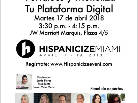 Buena Vida Media at Hispanicize 2018