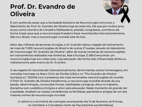 Nota de Pesar – Prof. Dr. Evandro de Oliveira