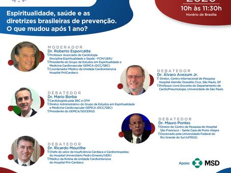 Espiritualidade, saúde e as diretrizes brasileiras de prevenção. O que mudou após 1 ano?