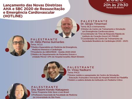 Lançamento das Novas Diretrizes AHA e SBC 2020 de Ressuscitação e Emergência Cardiovascular(HOTLINE)