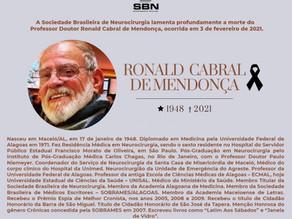 Nota de Pesar – Dr. Ronald Cabral de Mendonça
