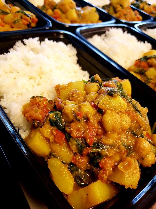 Chickpea, Potato, & Spinach Jalfrezi