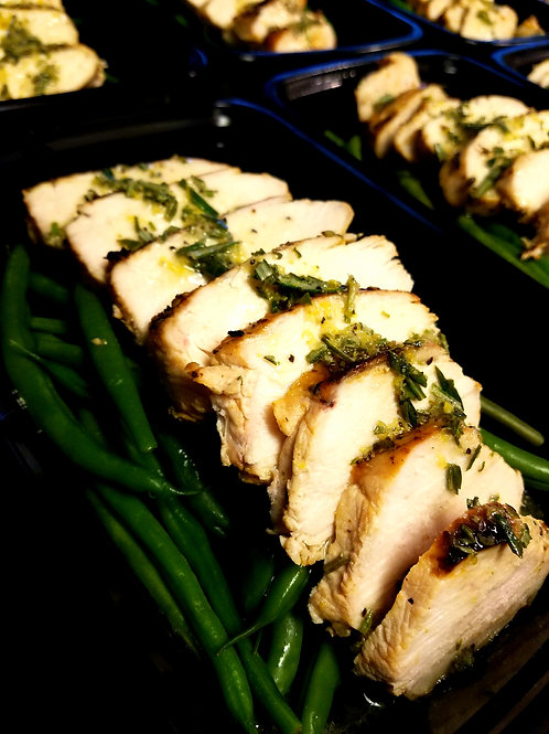 Lemon-Rosemary Chicken with Green Beans