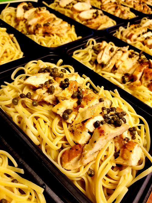 Chicken Piccata with Linguine