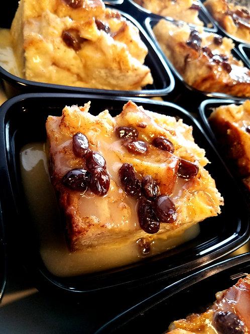 Bread Pudding with Vanilla-Raisin Sauce