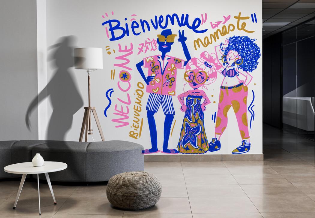 Bienvenue - Mural