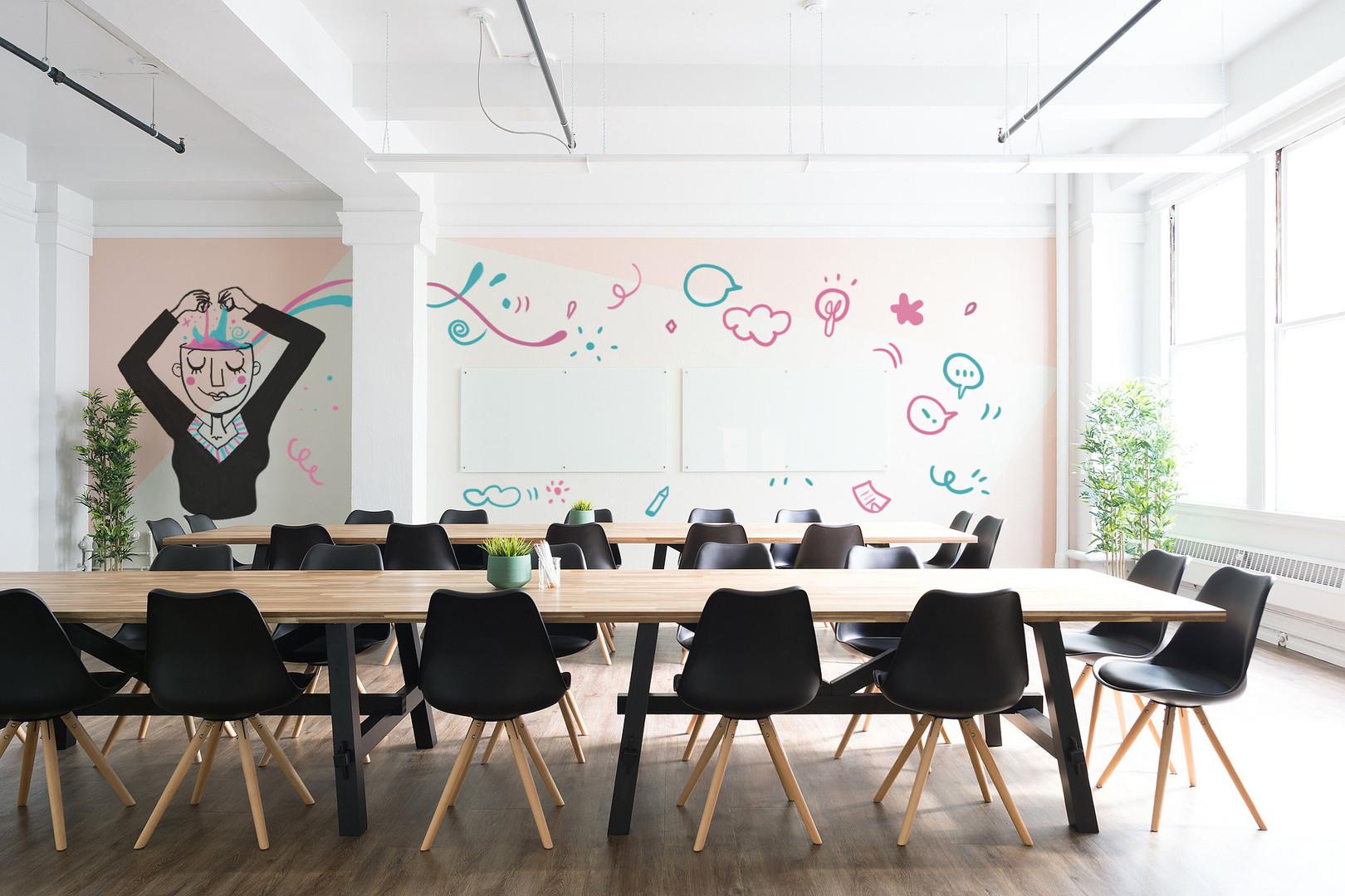 Les idées qui crépitent - Mural