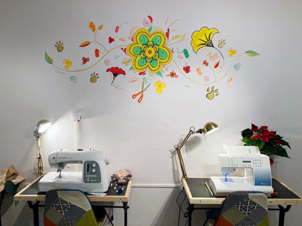 Tout en fleurs - Mural