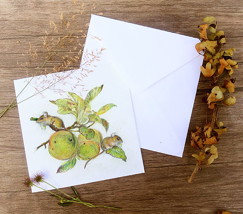 Greetings card - Bramley and Apple