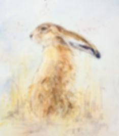 Kate Wyatt Artist Hare Painting