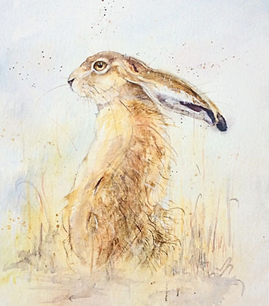 Kate Wyatt Artist Hare Painting