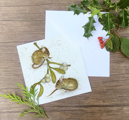 Merry and Berry - set of four greetings cards