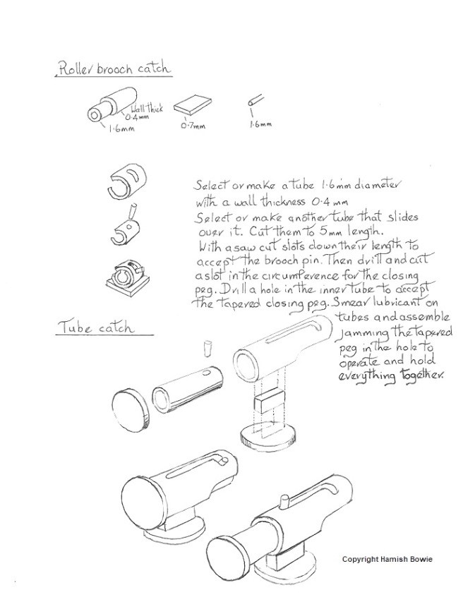 Jewellery Roller Brooch Catch diagram by Hamish Bowie_Blog post_bespokejewellerytraining.co.uk