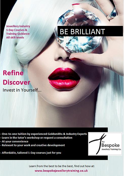 jewellery courses to help you #bebrilliant via www.bespokejewellerytraining.co.uk