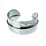 Foldformed silver cuff - image Louise Mary