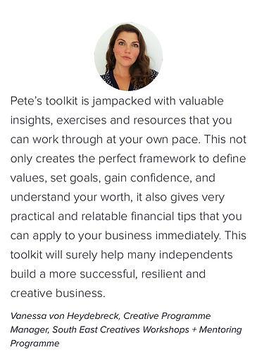 Testimonial _ Business planning for crea