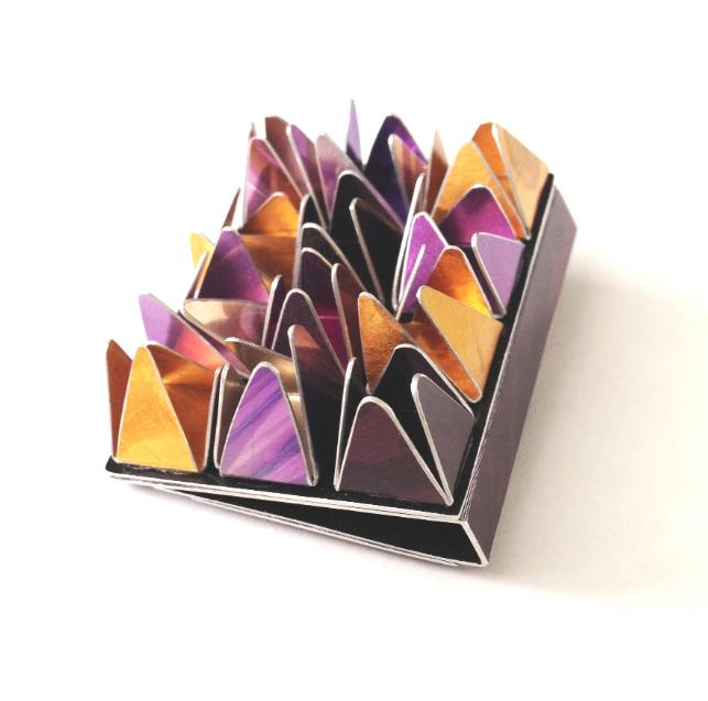 Pyramid Brooch by Dawn Meaden-Johnson at