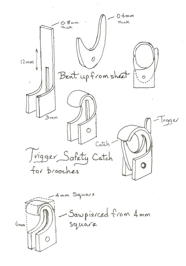 Jewellery - Trigger Safety Catch Diagram by Hamish Bowie_Image 02 Blog post_bespokejewellerytraining.co.uk